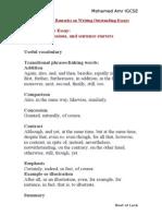 English (Strategies for Good Writting)