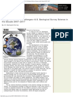 USGS Science Strategy 2007-2017 Summary