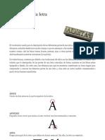 Anatomía de la tipografía - glosario
