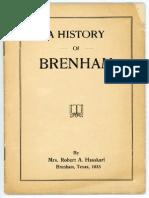 HASSKARL 1933 History of Brenham