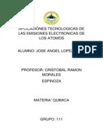 APLICACIÓNES TECNOLOGICAS DE LAS EMISIONES ELECTRONICAS DE LOS ATOMOS