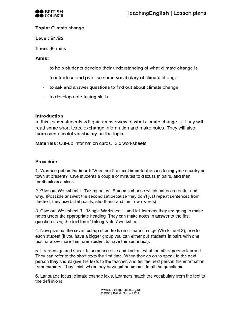 worksheet Climate Change Worksheet climate change lesson plan greenhouse effect gas