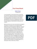 Free From School - Rahul Alvares