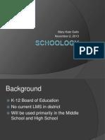 schoology presentation