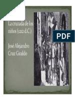Unidad 5 La cruzada de los niños - José Alejandro Cruz Giraldo