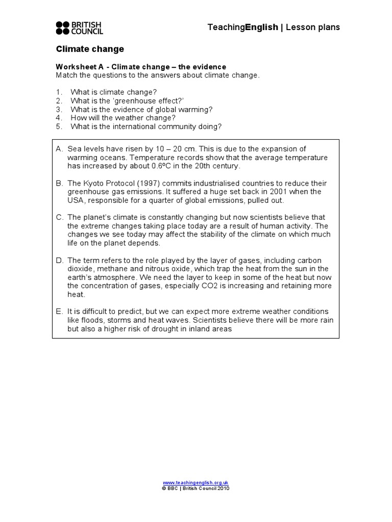 worksheet An Inconvenient Truth Worksheet Answers climate change worksheets atmosphere of earth