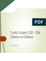 Unidad 5 Cuarta Cruzada - Cristian González