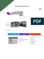 Diseño del Portal  Upmh