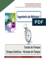 M4.4 IM I - USMP - Estudio de Tiempos - Estudio de Tiempos Sintéticos