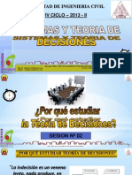 Clase 2 Sistemas y Teoria Decisiones 2013 II