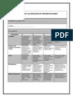 matriz de valoracin de presentaciones