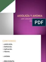 AXIOLIGÍA Y ANOMIA