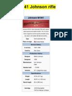 M1941 Johnson Rifle - From Wikipedia