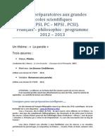 MPSI PCSI MP PC PSI-Lettres-Mme Burtin- 2012 2013-Scientifiques
