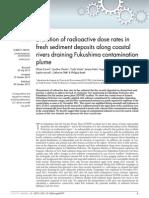 ENVIRONMENTAL MONITORING HYDROLOGY fresh sediment deposits along coastal rivers draining Fukushima contamination plume