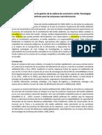 Gestión del riesgo para la gestión de la cadena de suministro verde