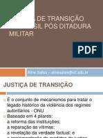 Justica de Transicao Redemocratizacao