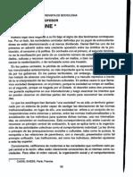 Alain Touraine - Intervención del profesor