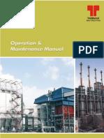 O & M Manual for Boiler