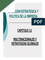 Capitulo 11 - Multinacionales y Estrategias Globales
