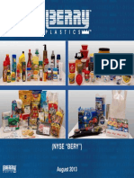 Berry Plastics Group Investor Presentation 2013 - August