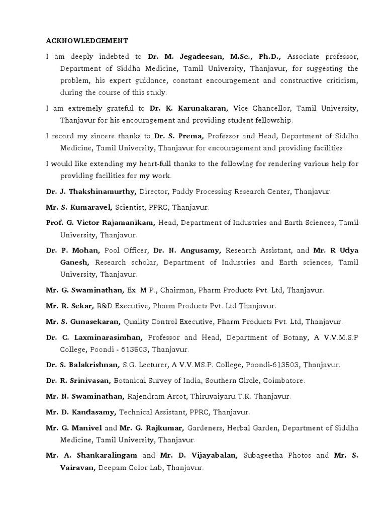 Phd thesis on medicinal plants