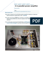 LM3886 x 2 in Parallel Power Amplifier
