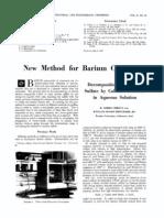 Barium Chloride From Barium Sulfate and Calcium Chloride in Aques Media