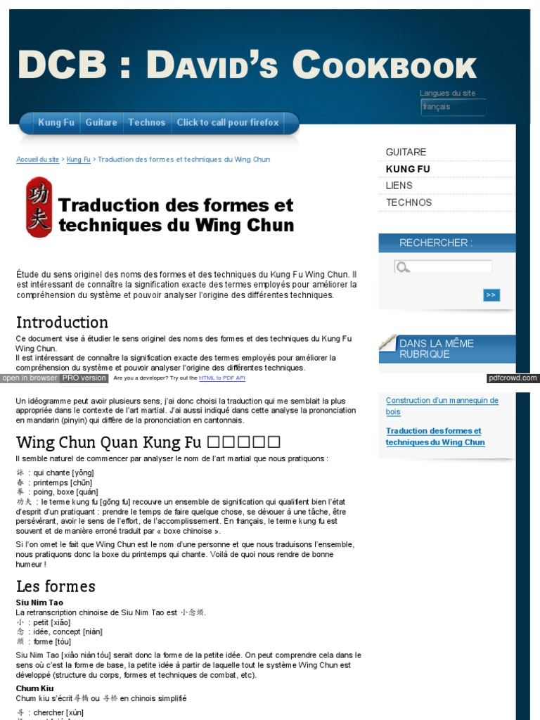 Kung Fu Signification david reina free fr spip php article40