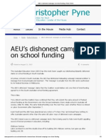 """Pyne promising each school would receive the same """"dollar for dollar"""" funding irrespective of who won the election."""