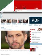 TMZ report on Paul Walker's death