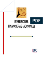 Inversiones Financieras (Acciones) - Carlos Cardenas