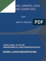 Bab 6. -Populasi Sampel Dan Sampling