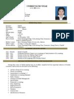 Siekneng's CV and Cover Letter