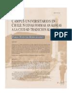 Paper - Campus universitarios en Chile. Nuevas formas análogas a la ciudad tradicional - Pablo Fuentes