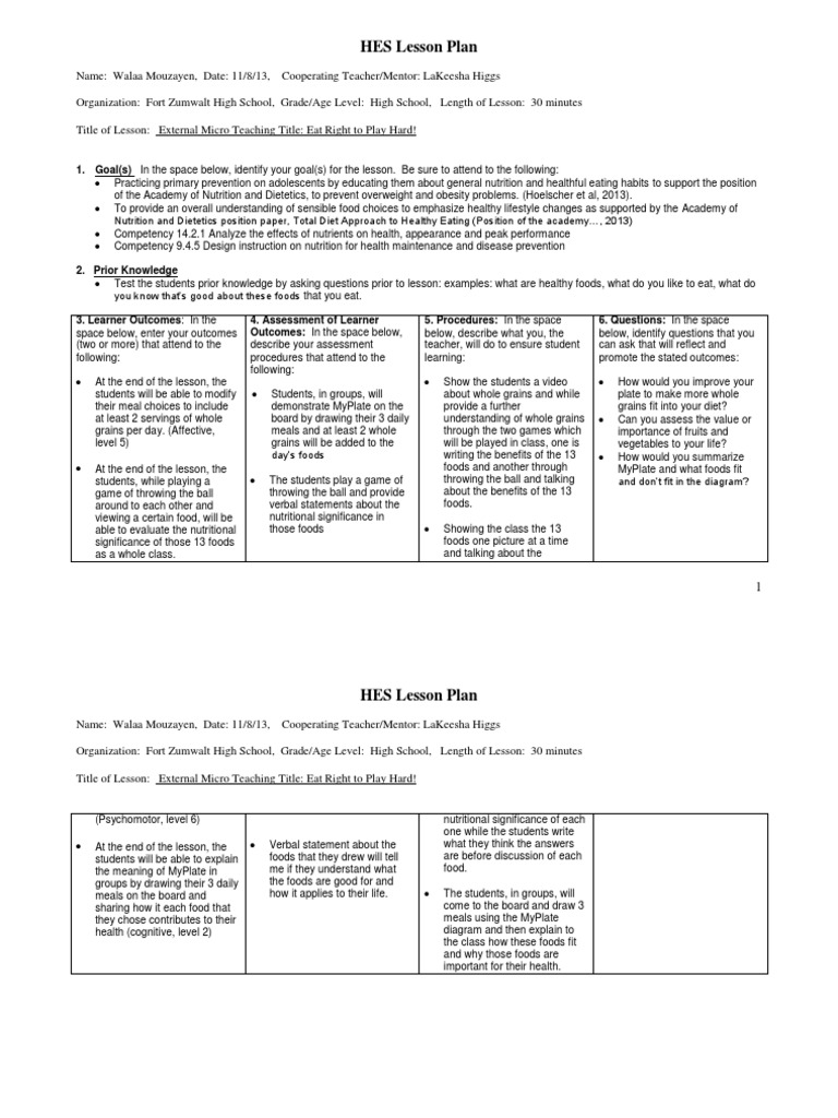 Microteaching Lesson Plan Pdf idea gallery