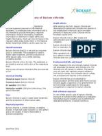 Barium Chloride MSDS Advanced