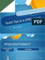 quick hajj eco-friendly tips power point