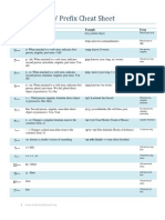 Hebrew Suffix / Prefix Cheat Sheet