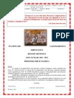 Planificarile Anuale 2013-2014 religie