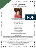 Cheryl Ortega for UTLA Director of Bilingual Education