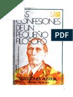 Azorín - Las confesiones de un pequeño filósofo