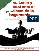 Marx, Lenin y Gramsci ante el problema de la hegemonía. ISLAS, 4