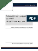 Alexander Von Humboldt - Extractos de Sus Diarios en Colombia