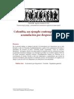 Colombia, un ejemplo contemporáneo de acumulacion por desposesion Vega Cantor - Colombia