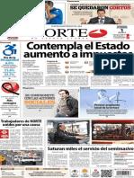 Periódico Norte de Ciudad Juarez 1 de Diciembre de 2013