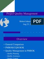 Quality PMBOK