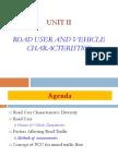 Roaduser and vehicle Characteristics