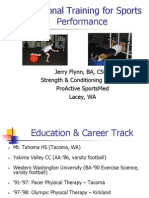 Functional Training  for Sports Performance - presentation