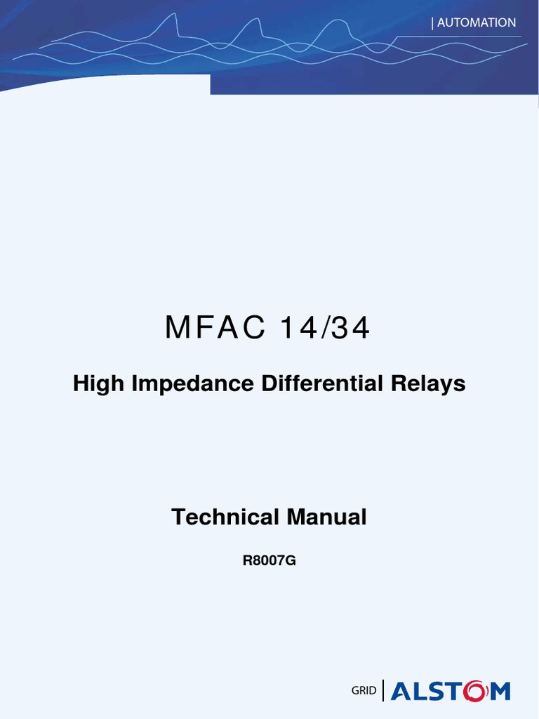 Mfac  Manual Gb Relay Transformer - Alstom electromagnetic relay catalogue